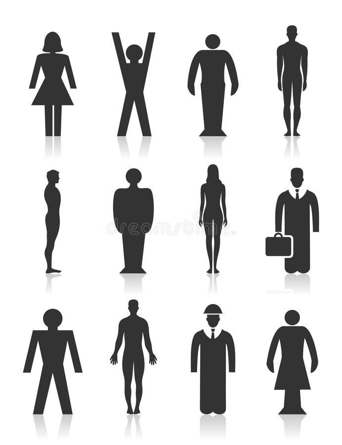 Ícone a pessoa ilustração stock