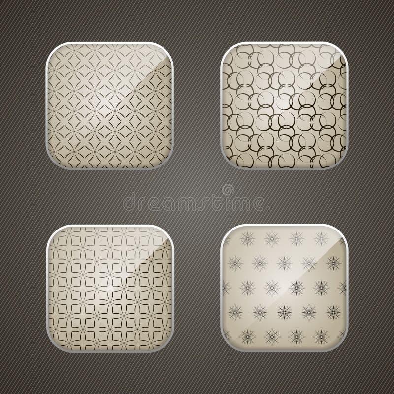 Grupo de ícones do app ilustração royalty free
