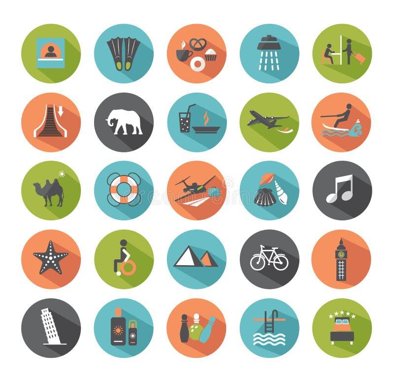 Grupo de ícones do curso. ilustração royalty free