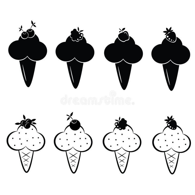Grupo de ícones do gelado do vetor