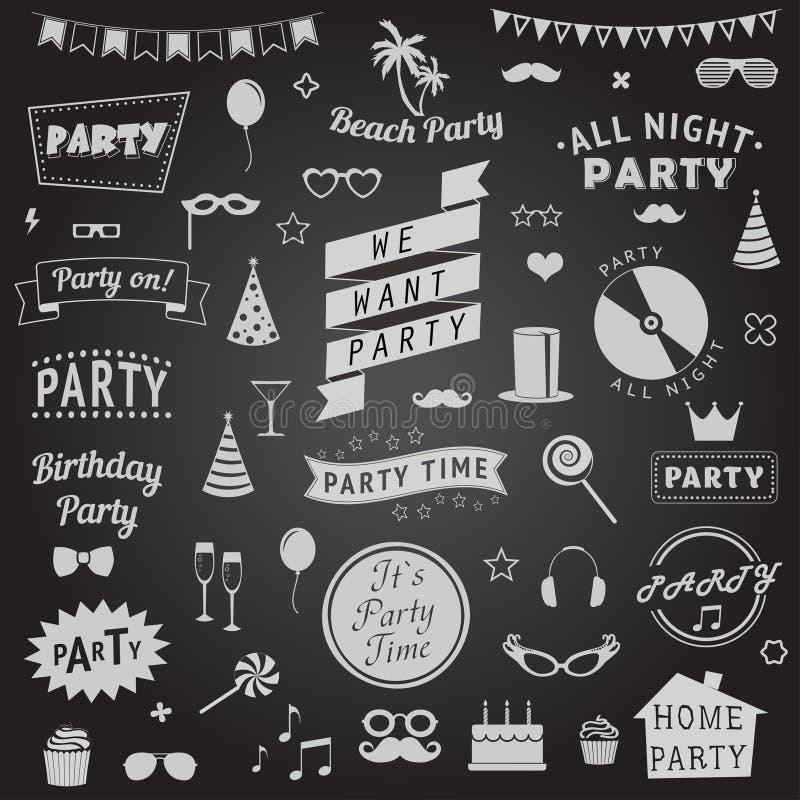 Grupo de ícones do partido