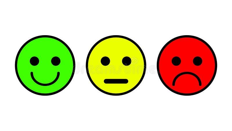 Grupo De 3 ícones Do Smiley Triste, Neutro, Sorrido