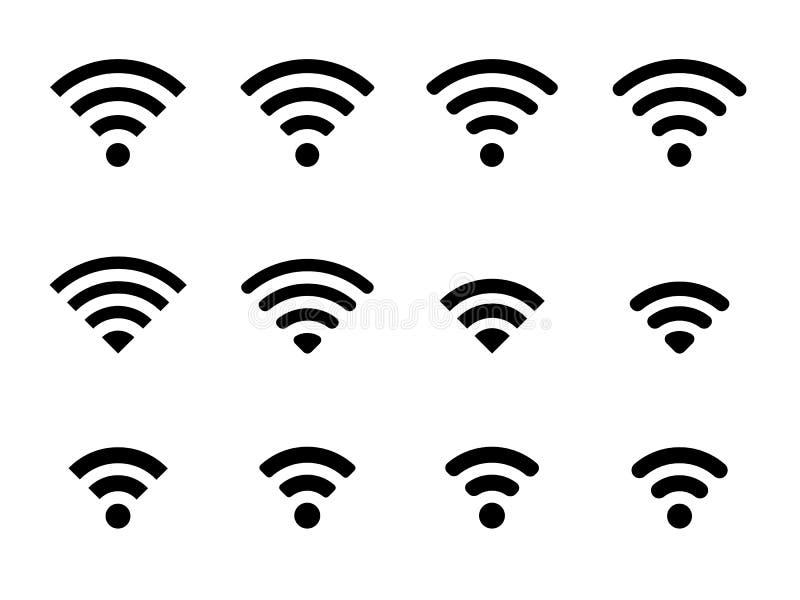 Grupo de ícones do wifi fotos de stock