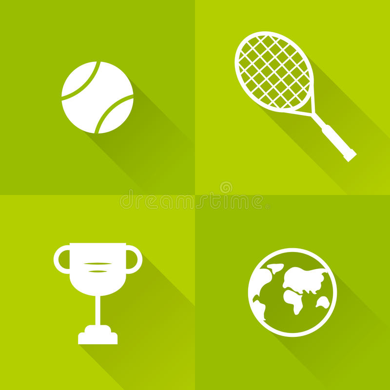 Grupo de ícones para o tênis Estilo liso Ilustração do vetor ilustração stock