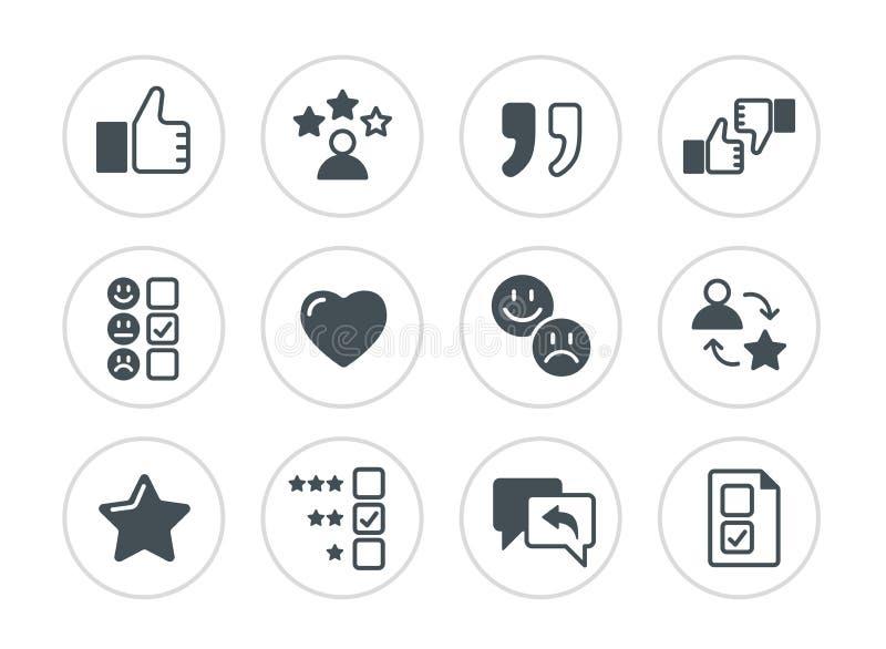 Grupo de ícones relacionados das homenagens ilustração stock