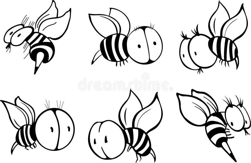 Grupo de abelha ilustração stock