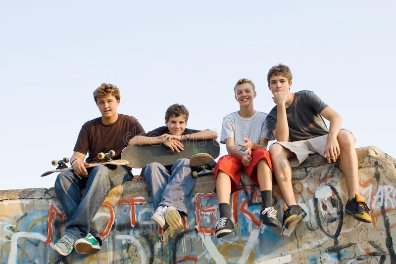 Grupo de adolescencias foto de archivo libre de regalías