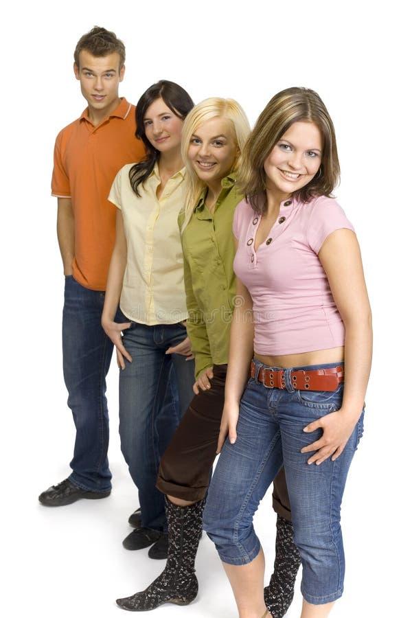 Grupo de adolescentes imagens de stock royalty free