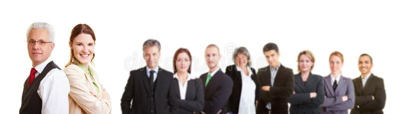 Grupo de advogados em uma equipe imagem de stock