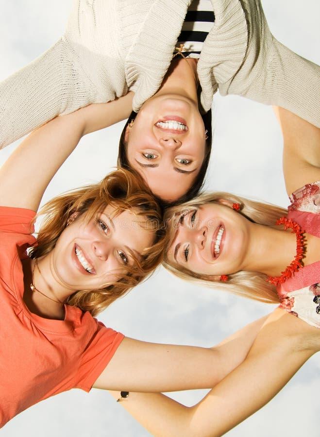 Grupo de amigos felices foto de archivo libre de regalías
