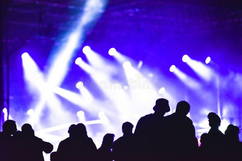 Grupo de amigos que apreciam o festival de música junto fotos de stock royalty free