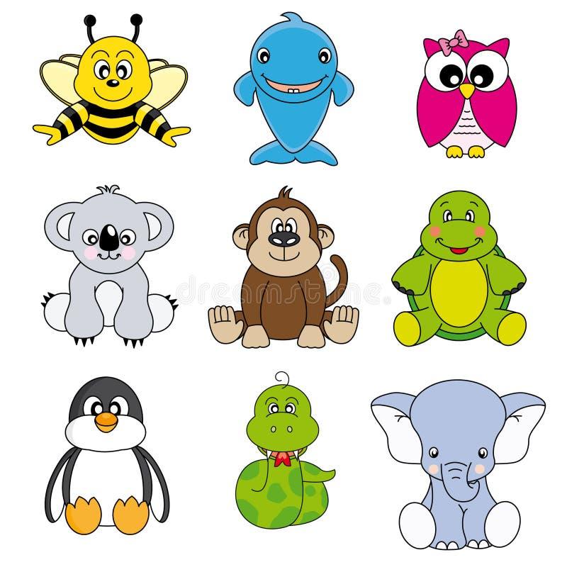 Grupo de animais ilustração do vetor