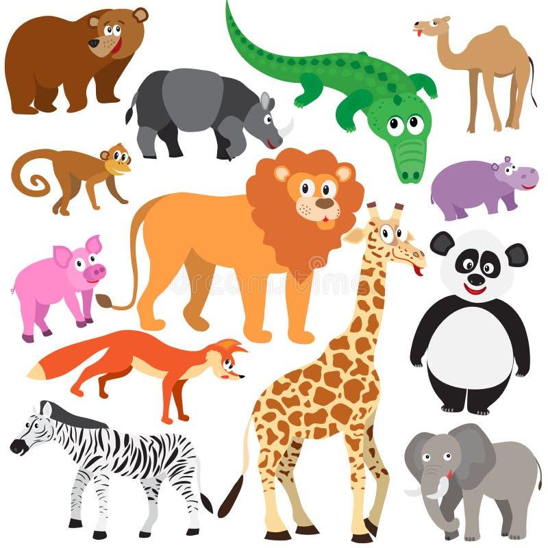 Grupo de animais ilustração royalty free