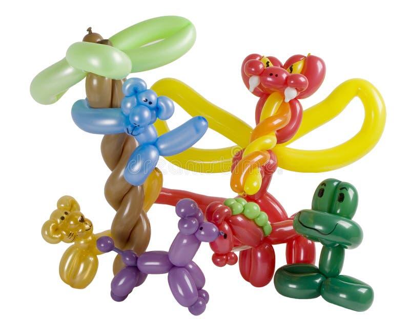 Grupo de animais do balão foto de stock
