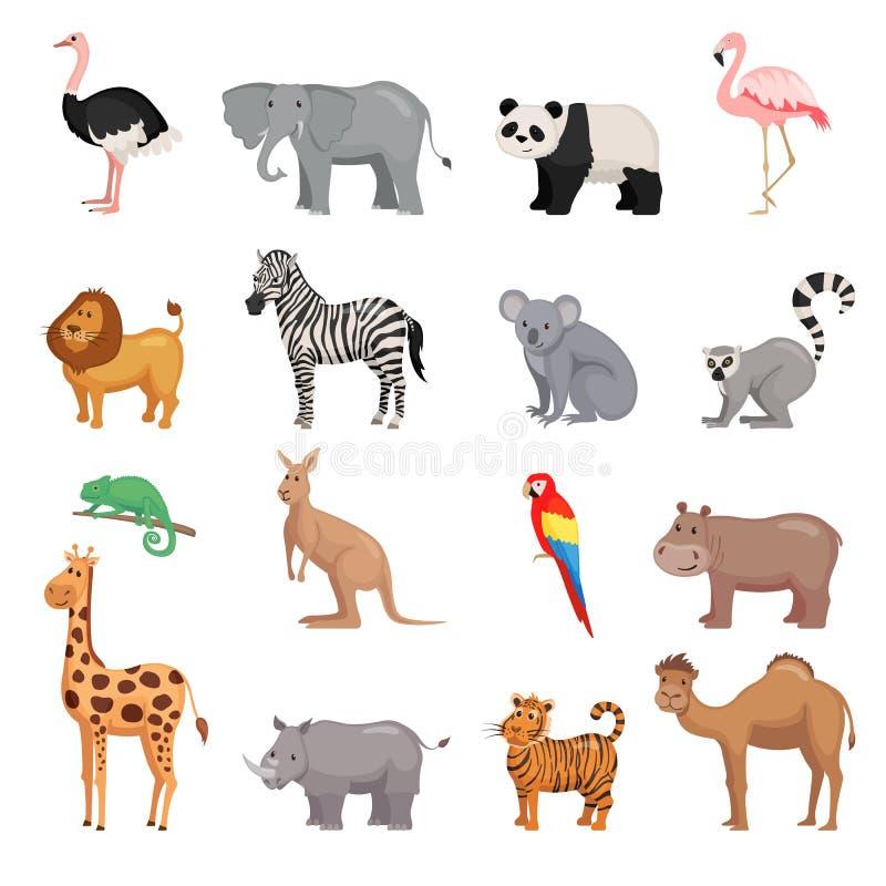 Grupo de animais do jardim zoológico ilustração stock