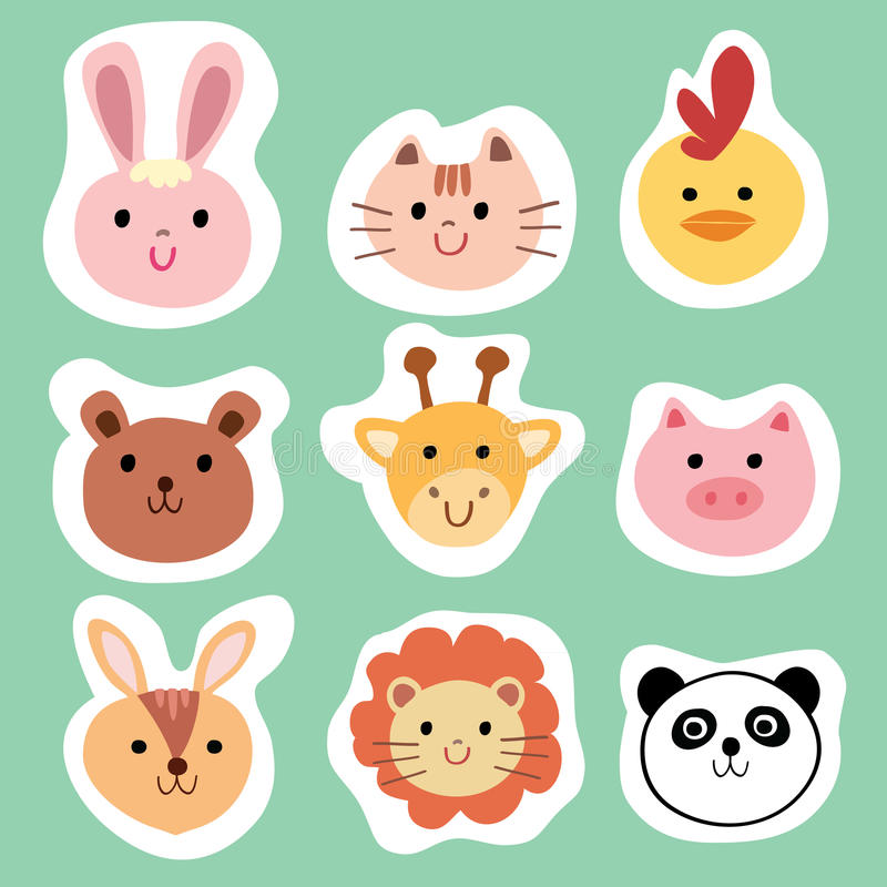 Grupo De Animais E De Animais De Estimacao Bonitos Coloridos
