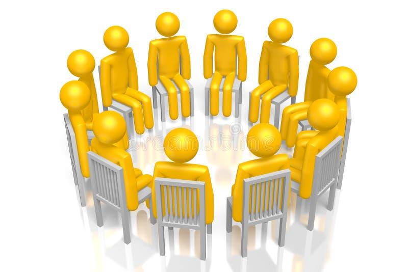 grupo de apoio 3D ilustração do vetor