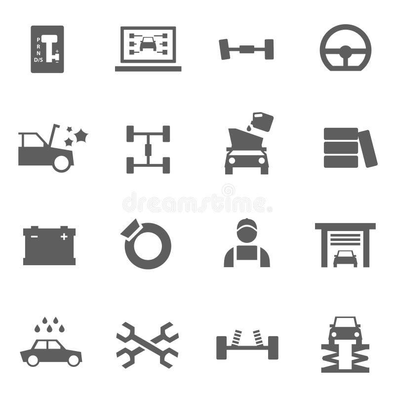 Grupo de auto ícones do serviço foto de stock