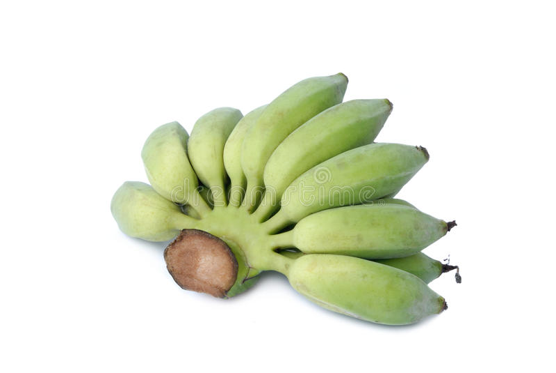 Grupo de bananas cruas foto de stock