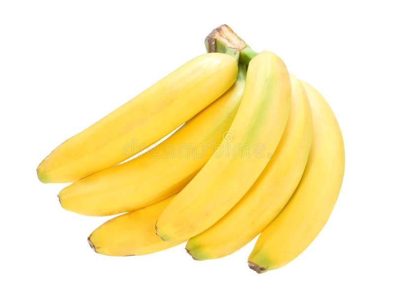 Grupo de bananas frescas amarelas fotografia de stock