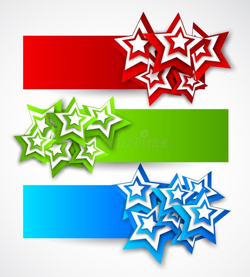 Grupo de bandeiras ilustração do vetor
