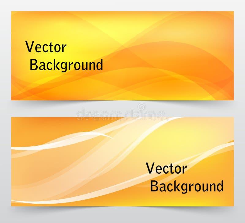 Grupo de bandeiras abstratas coloridas com linhas Vetor foto de stock royalty free