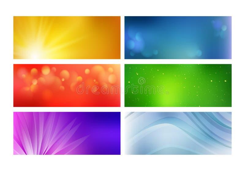 Grupo de bandeiras brilhantes coloridas da Web ilustração royalty free