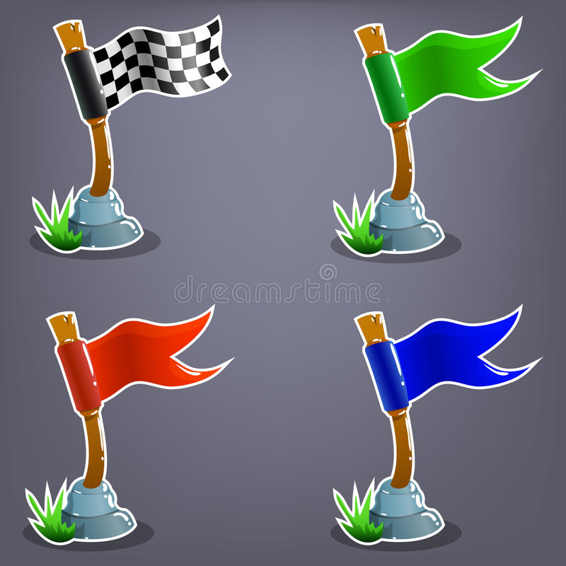 Grupo de bandeiras do jogo ilustração royalty free