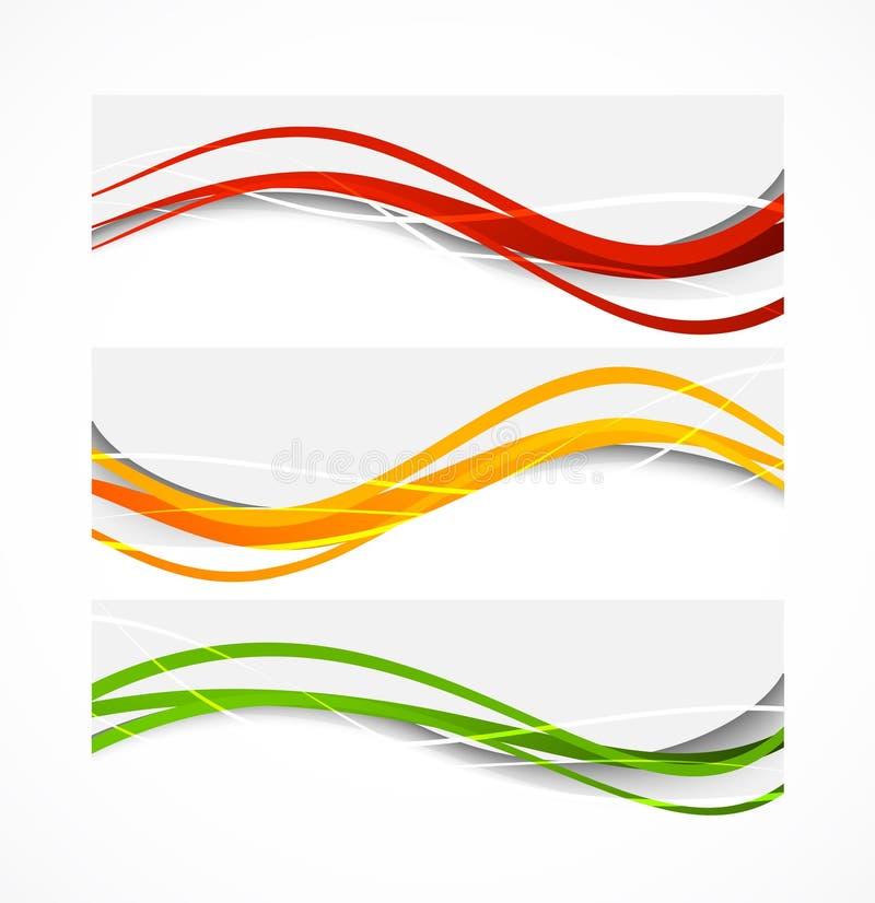Grupo de bandeiras onduladas ilustração royalty free