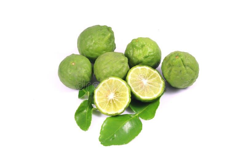 Grupo de bergamota y de hoja imagen de archivo
