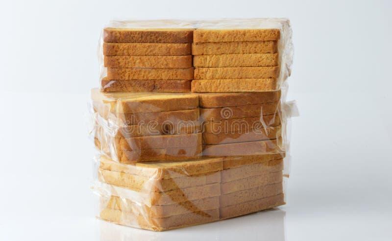 Grupo de bizcochos tostados imagen de archivo