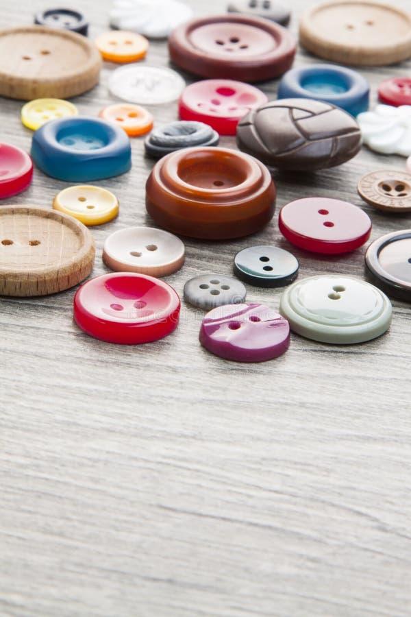 Grupo de botões do vintage foto de stock