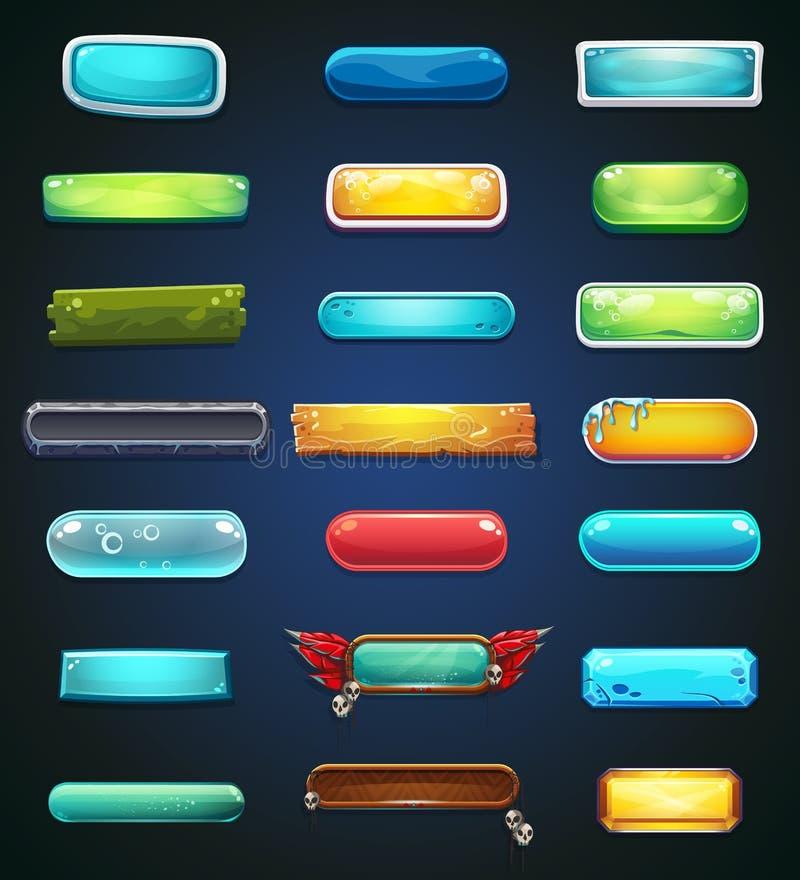 Grupo de botões multi-coloridos para a site ou o app ilustração do vetor