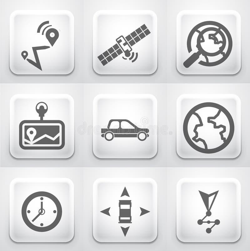 Grupo de botões quadrados da aplicação: navegação ilustração royalty free