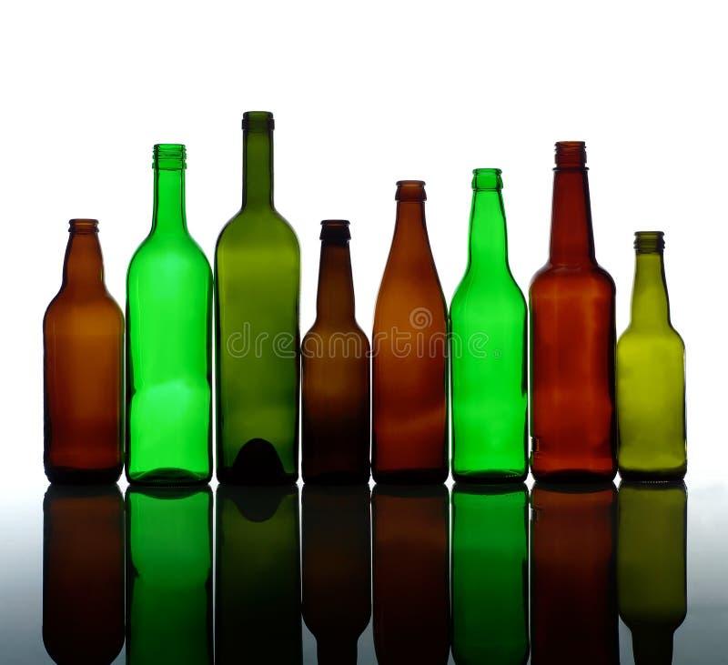 Grupo de botellas fotografía de archivo libre de regalías