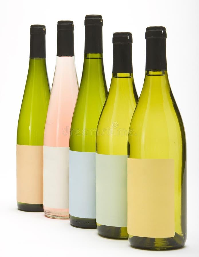 Grupo de botellas de vino imagenes de archivo