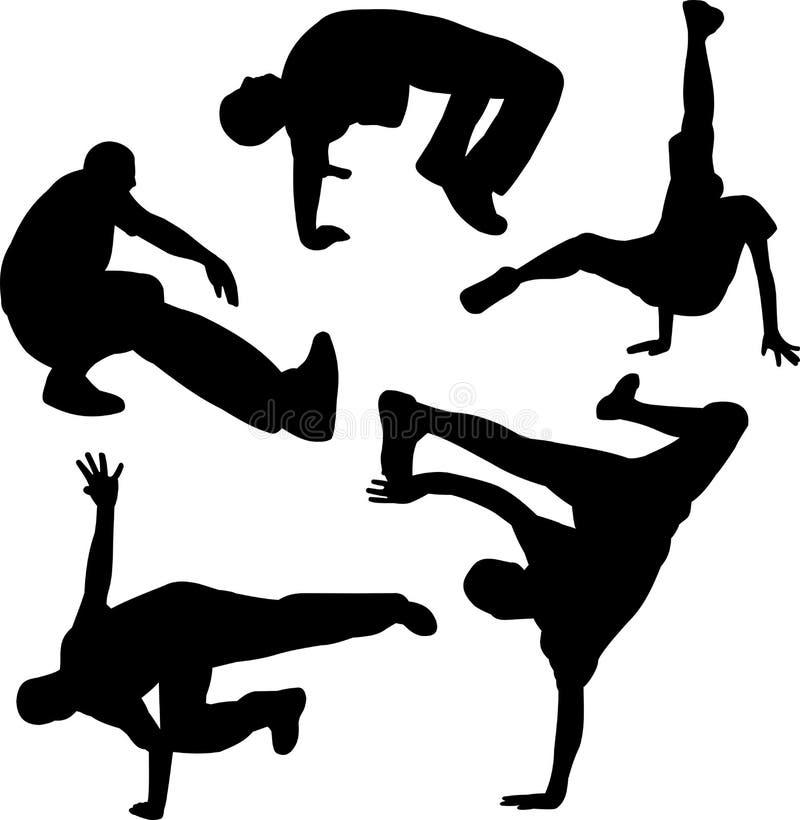 Grupo de Breakdancing fotografia de stock