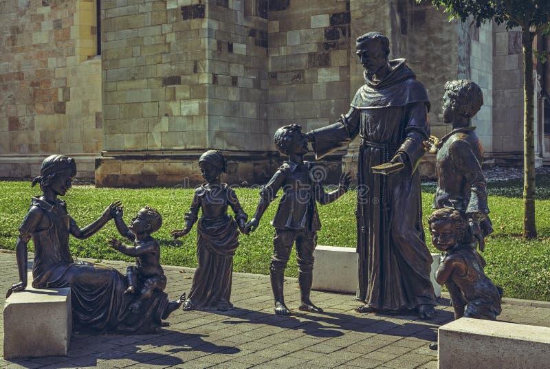 Grupo de bronze das estátuas fotografia de stock