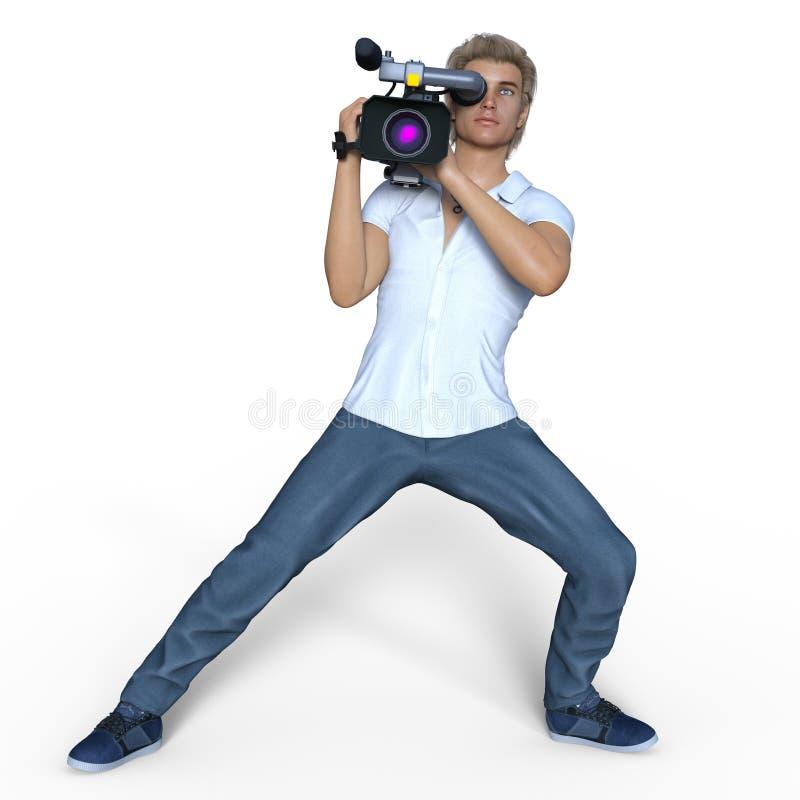 Grupo de câmera ilustração royalty free