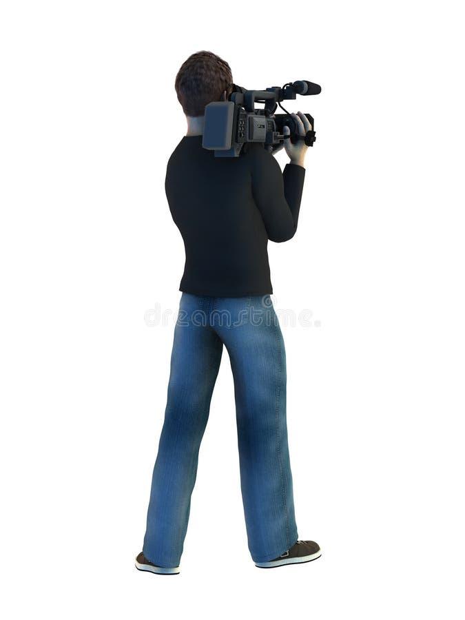 Grupo de câmera ilustração do vetor