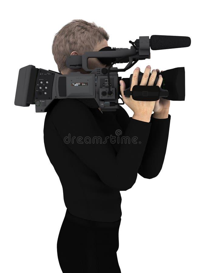 Grupo de câmera ilustração stock