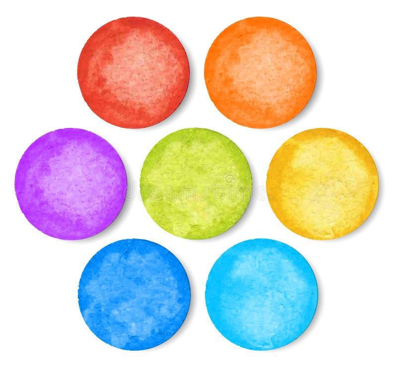 Grupo de círculos da aquarela ilustração royalty free