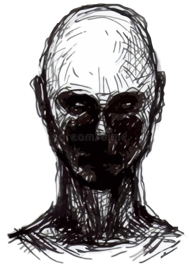 Grupo de cabeças dos zombis ilustração stock