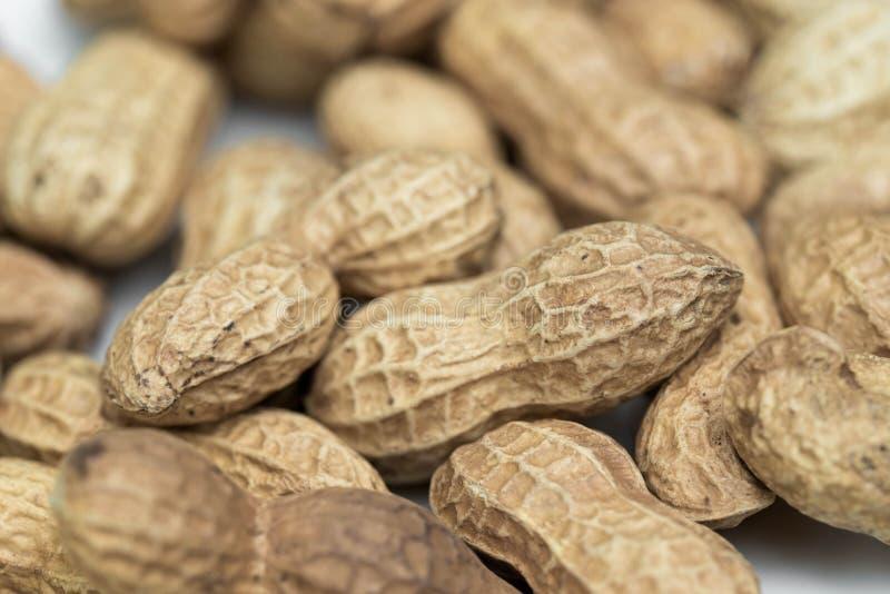 Grupo de cacahuetes macros imagenes de archivo