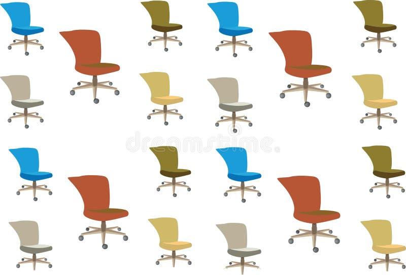 Grupo de cadeiras coloridas para a decoração interior ilustração royalty free