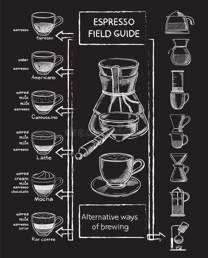 Grupo de café ilustração do vetor
