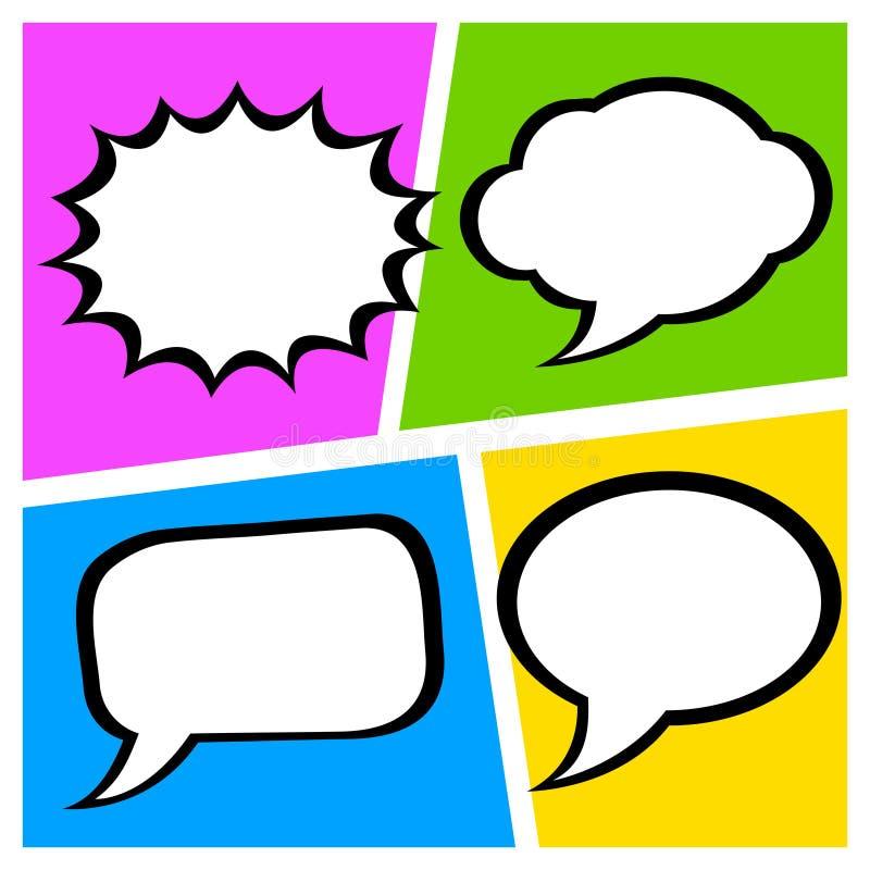 Grupo de caixa de diálogo cômica ilustração stock