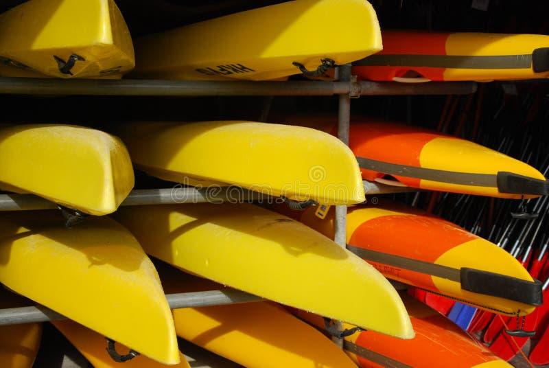 Grupo de canoas imagen de archivo libre de regalías
