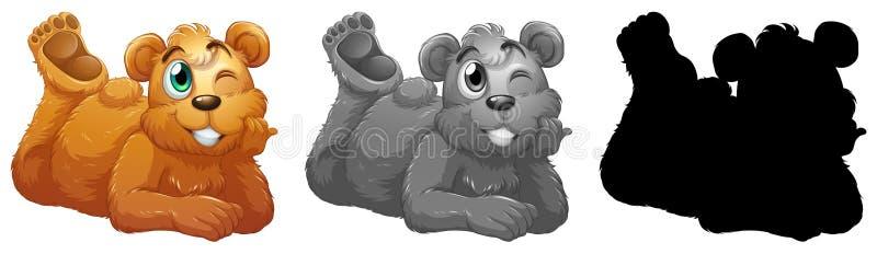 Grupo de caráter do urso ilustração stock