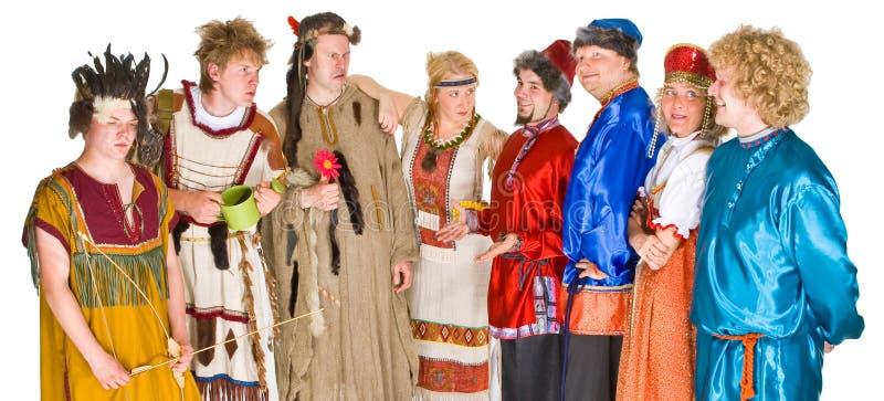 Grupo de caráteres do teatro imagens de stock